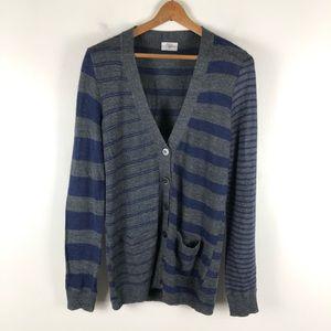 Madewell Wallace stripe wool blend cardigan 0681